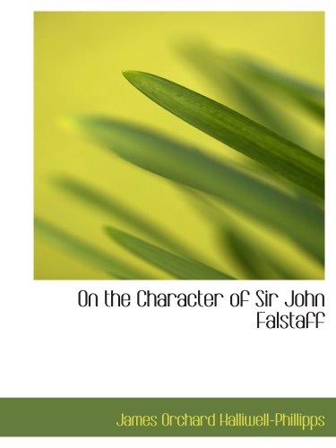 9780559854590: On the Character of Sir John Falstaff
