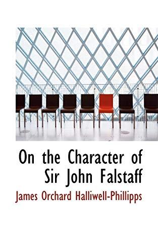 9780559854644: On the Character of Sir John Falstaff