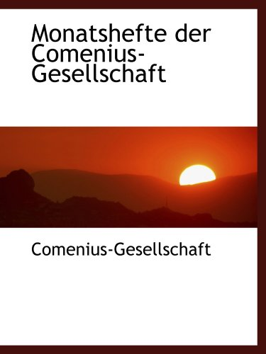 9780559926334: Monatshefte der Comenius-Gesellschaft