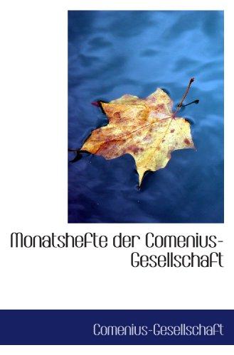 9780559926341: Monatshefte der Comenius-Gesellschaft