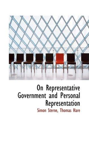 9780559968518: On Representative Government and Personal Representation