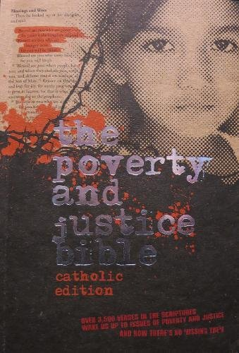 NRSV Poverty & Justice Bible, Catholic Edition: American Bible Society