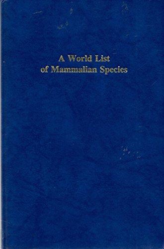 World List of Mammalian Species: Corbet, G.B., Hill,