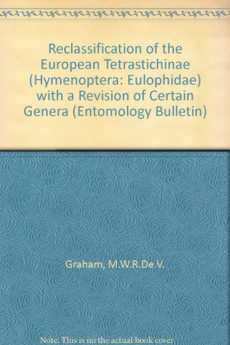 Reclassification of the European Tetrastichinae (Hymenoptera: Eulophidae) with a Revision of ...