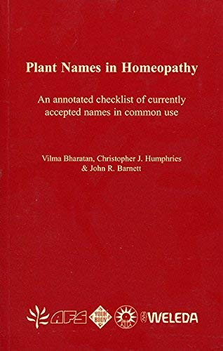 9780565091774: Plant Names in Homeopathy: An Annotated Checklist of Currently Accepted Names in Common Use