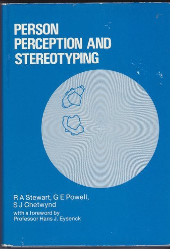 9780566000720: Person Perception and Stereotyping