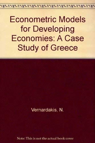 9780566002106: Econometric models for the developing economies: A case study of Greece