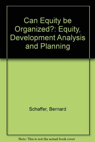 9780566004322: Can Equity be Organized?: Equity, Development Analysis and Planning