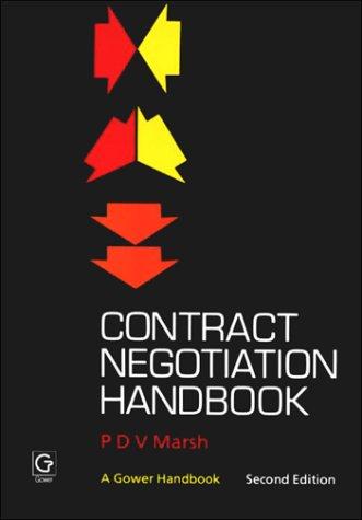 9780566024030: Contract Negotiation Handbook