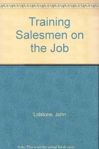 9780566024146: Training Salesmen on the Job