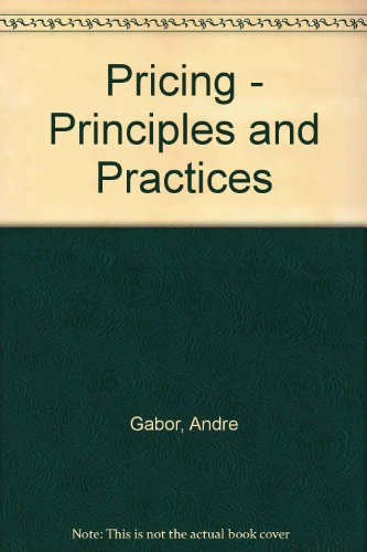9780566025983: Pricing: Principles and Practices