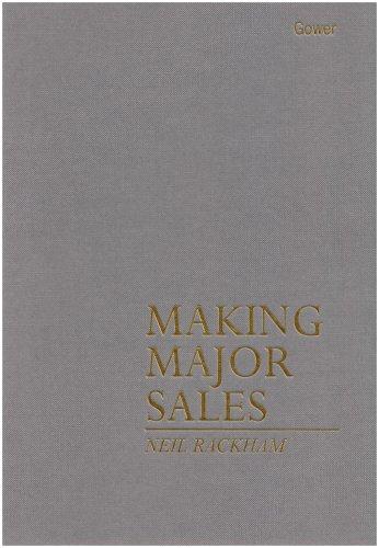 9780566026270: Making Major Sales