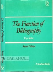 9780566034404: The Function of Bibliography