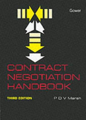 9780566080210: Contract Negotiation Handbook