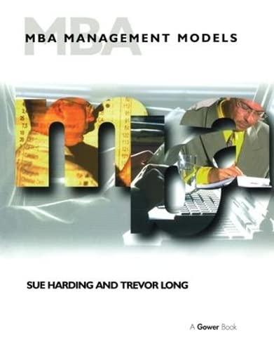 9780566081378: MBA Management Models