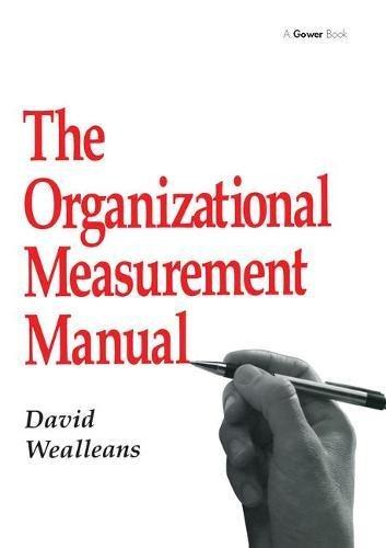 9780566083495: The Organizational Measurement Manual