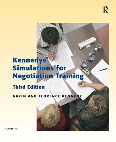 Kennedys' Simulations for Negotiation Training: Kennedy, Gavin, Kennedy, Florence