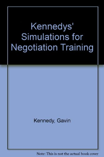 9780566087394: Kennedys' Simulations for Negotiation Training