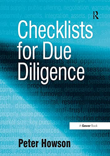 9780566088629: Checklists for Due Diligence