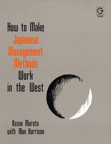 How to Make Japanese Management Methods Work: Alan Harrison; Kazuo