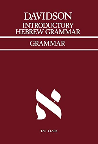 Introductory Hebrew Grammar: with progressive exercises in: Davidson, A.B.