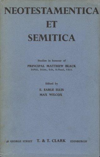 Neotestamentica et Semitica: Wilcox, Max