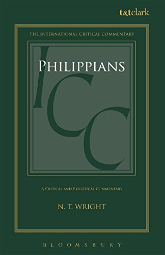 9780567034038: Philippians: A Critical and Exegetical Commentary (International Critical Commentary)