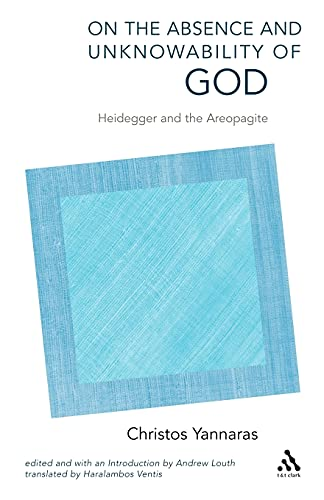 9780567045324: On the Absence and Unknowability of God: Heidegger and the Areopagite