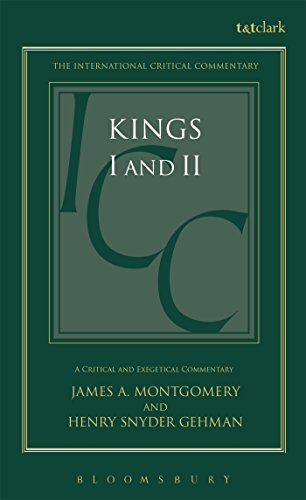 9780567050069: Kings I and II (International Critical Commentary)