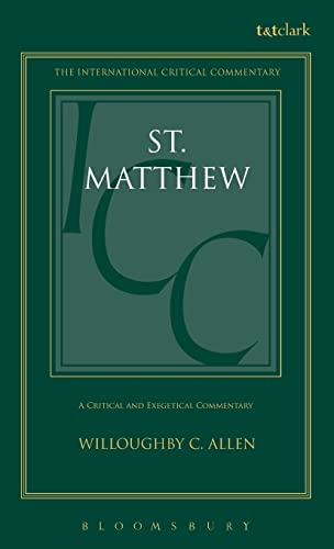 9780567050212: A Critical and Exegetical Commentary on the Gospel According to St. Matthew