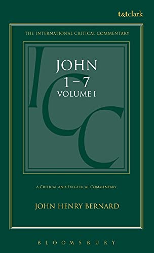 9780567050243: A Critical and Exegetical Commentary on the Gospel According to St. John Volume 1 (International Critical Commentary Series)
