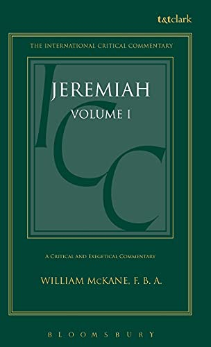 9780567050427: Jeremiah: Volume 1: 1-25 (International Critical Commentary)
