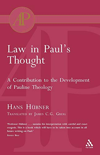 9780567080592: Law in Paul's Thought (Academic Paperback)