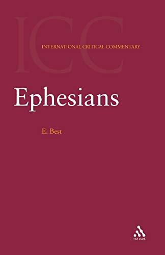 9780567084453: Ephesians (International Critical Commentary)