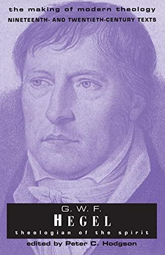 9780567085528: G.W.F Hegel: Theologian Of The Spirit (Making of Modern Theology)