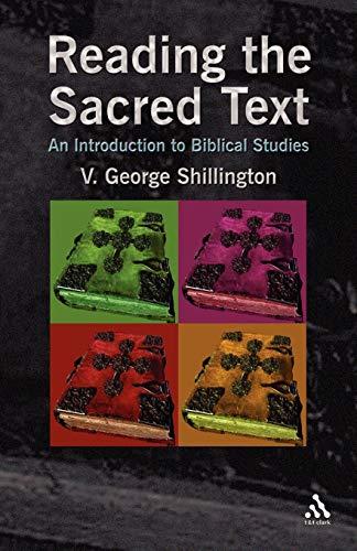 Reading the Sacred Text: V. George Shillington