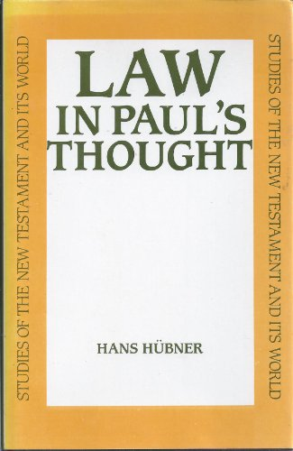 9780567093134: Law in Paul's Thought (Studies of the New Testament and Its World)