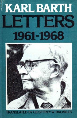 9780567093219: Karl Barth Letters. 1961-1968