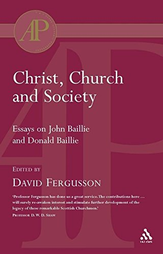 Christ, Church and Society: Essays on John: FERGUSSON, D (ED)