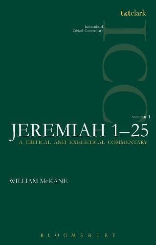 9780567164902: Jeremiah: Volume 1: 1-25 (International Critical Commentary)