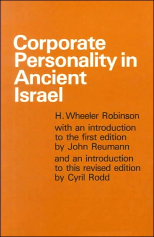 9780567291097: Corporate Personality in Ancient Israel