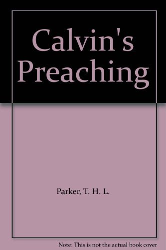 9780567292117: Calvin's Preaching