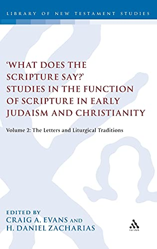 9780567387165: 'What Does the Scripture Say?' Studies in the Function of Scripture in Early Judaism and Christianity, Volume 2: Volume 2: The Letters and Liturgical Traditions (The Library of New Testament Studies)