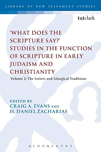 9780567508560: 'What Does the Scripture Say?' Studies in the Function of Scripture in Early Judaism and Christianity, Volume 2: Volume 2: The Letters and Liturgical Traditions (The Library of New Testament Studies)