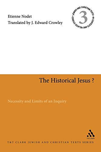 9780567515889: The Historical Jesus?: Necessity and Limits of an Inquiry