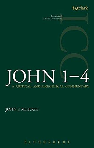 John 1-4 (ICC) (International Critical Commentary): John F. McHugh