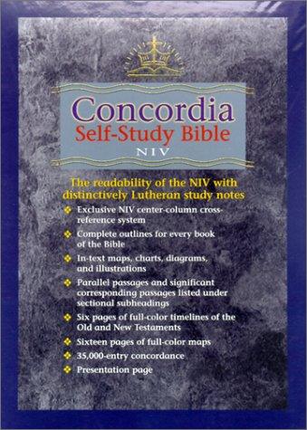 9780570005162: Concordia Self-Study Bible-NIV (Burgandy)