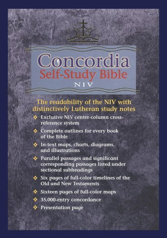 9780570005179: Concordia Self Study Bible: Black Bonded Leather With Thumb Index