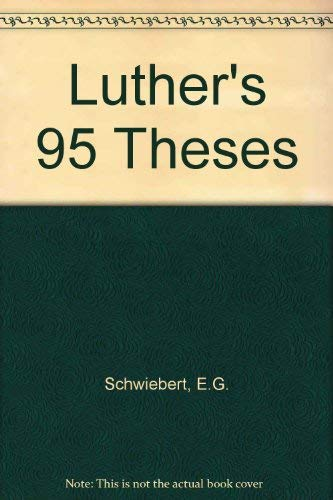 9780570035190: Luther's Ninety-Five Theses