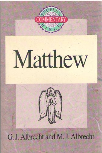 9780570049630: Matthew (People's Bible Commentary)